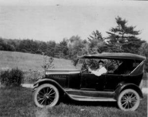 John Hayden in his car