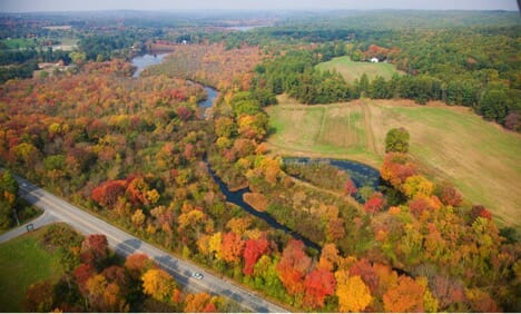 Little River Greenway from the air