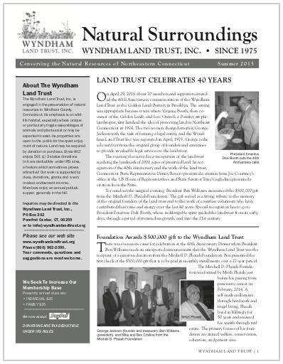 WLTSummer2015 Newsletter