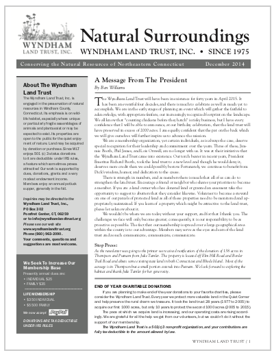 WLTWinter2014 Newsletter