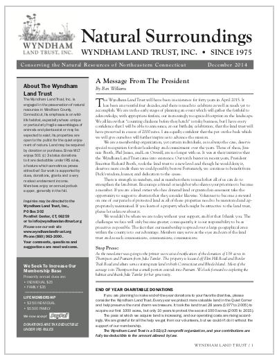 WLTWinter2014 Newsletter