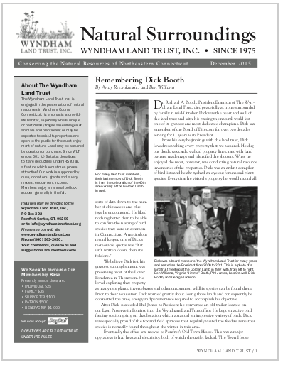 WLTWinter2015 Newsletter