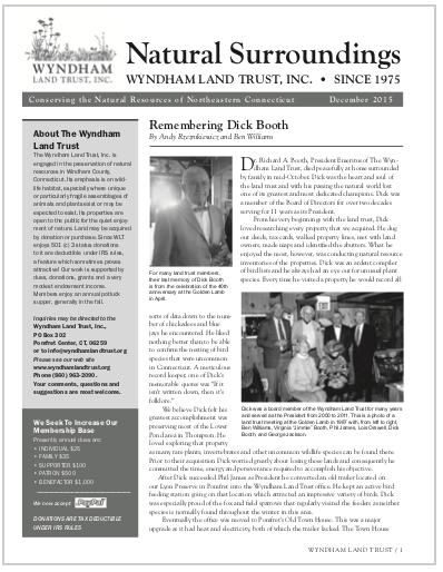 WLTWinter2015 Newsletter