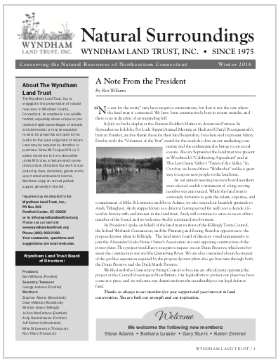 WLTWinter2016 Newsletter