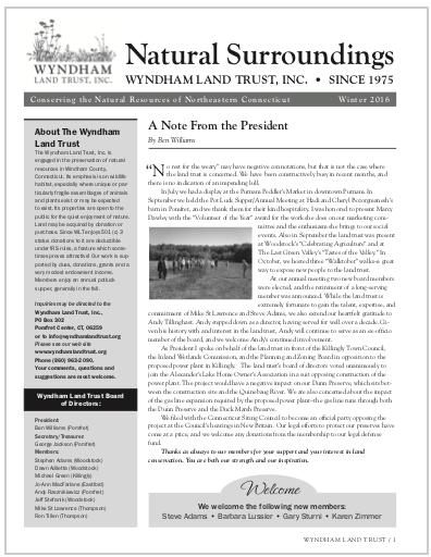 WLTWinter2016 Newsletter