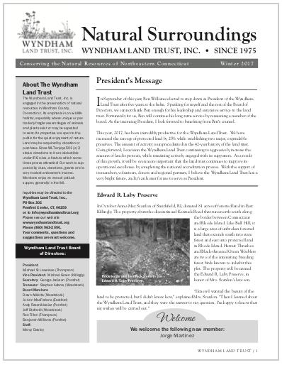 WLTWinter2017 Newsletter