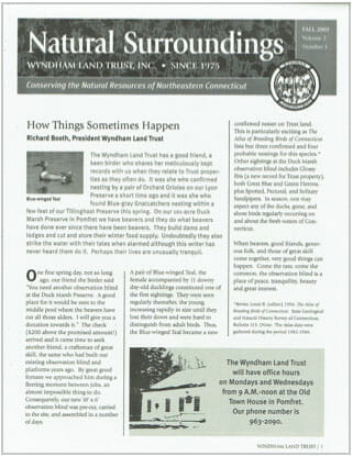 WLT Fall 2003 Newsletter Thumbnail