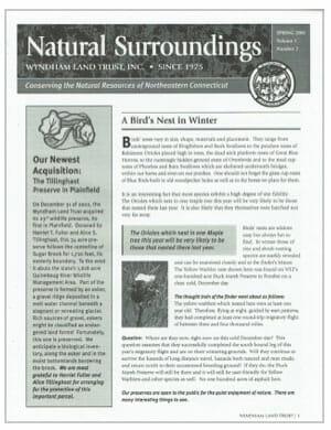 WLT Spring 2003 Newsletter Thumbnail