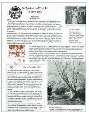 WLT Winter 1994 Newsletter thumbnail
